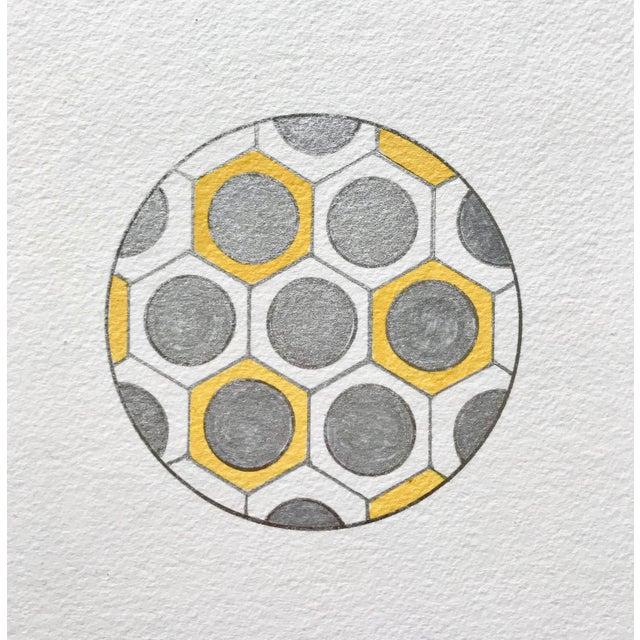 Minimalist Geometric Ink Drawings by Natasha Mistry- Set of 9 For Sale - Image 4 of 9
