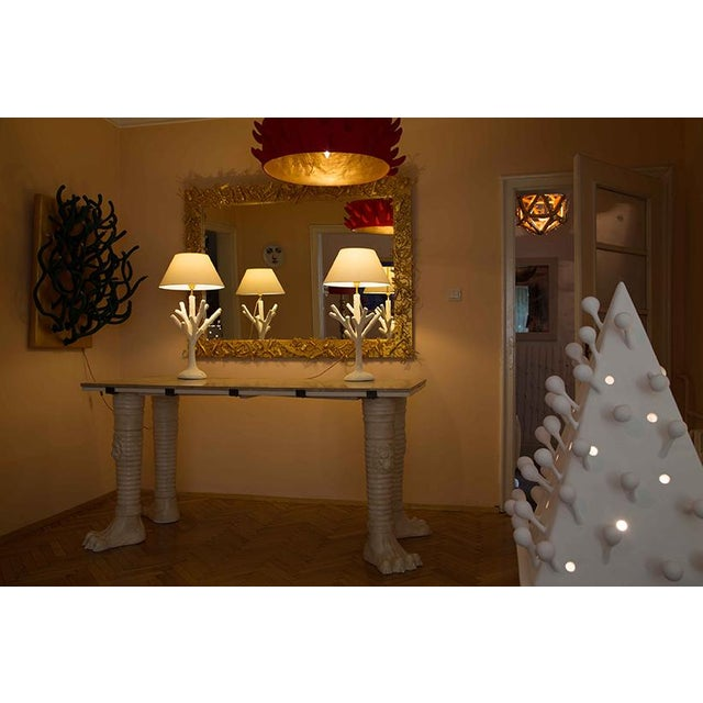 Contemporary 'Spine' Red Chandelier by Diane Grant For Sale - Image 3 of 4