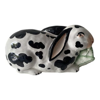 Mid 20th Century Chelsea House Spotted Porcelain Rabbit, Made in Italy For Sale