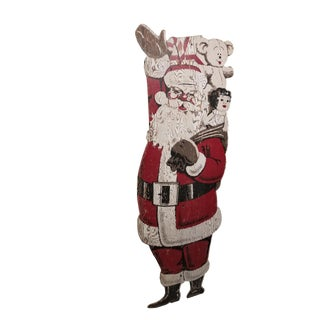 Vintage Mid Century Santa Claus Christmas Outdoor For Sale
