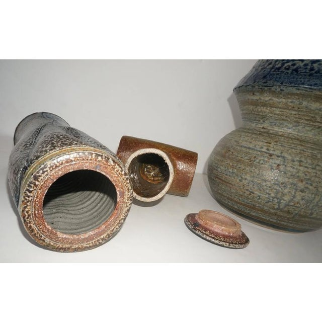 1960s Collection of Three Mid-Century Modern, Studio Art, Stoneware Pieces For Sale - Image 5 of 10