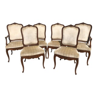 1960s French Wooden Dining Chairs - Set of 6 For Sale