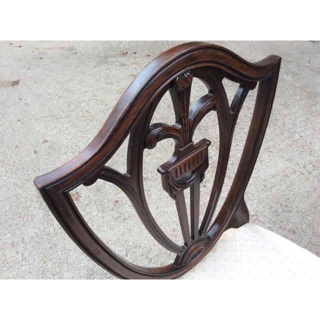 Hepplewhite Mahogany Shield Back Dining Chairs-S/6 - Image 5 of 10
