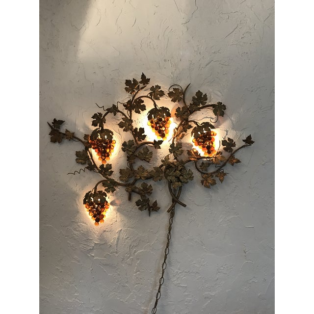 Vintage Murano Grape Cluster Light For Sale - Image 4 of 10