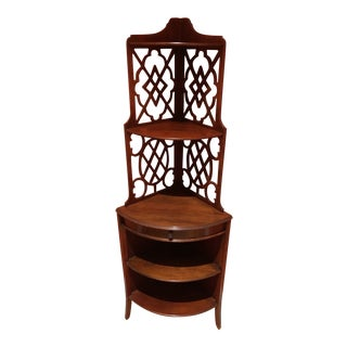20th Century Mahogany Display Etagere For Sale