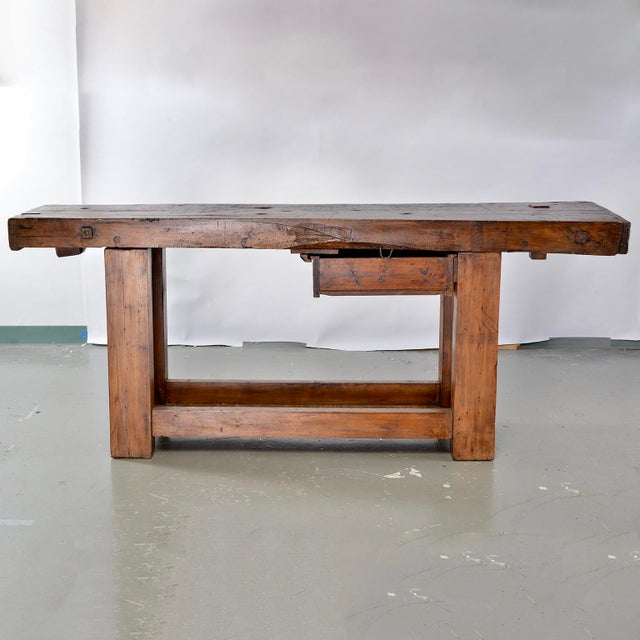 19th Century French Carpenters Workbench Table For Sale - Image 12 of 13