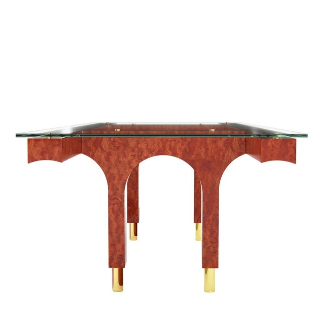 Art Deco Great Arch Dining Table by Artist Troy Smith - Contemporary Design - Handmade Furniture - Limited Edition For Sale - Image 3 of 6