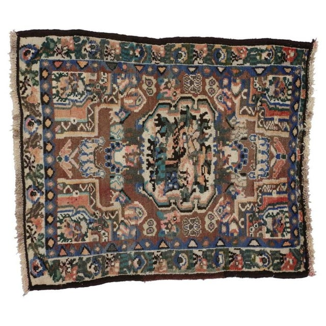 20th Century Persian Bakhtiari Accent Rug - 2′9″ × 3′2″ For Sale - Image 4 of 5
