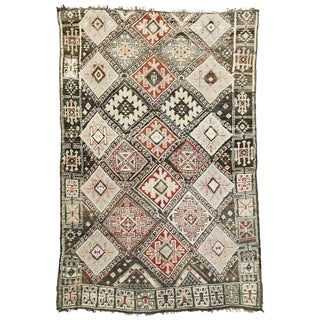 20th Century Moroccan Beni M'Guild Rug - 5′10″ × 8′9″ For Sale