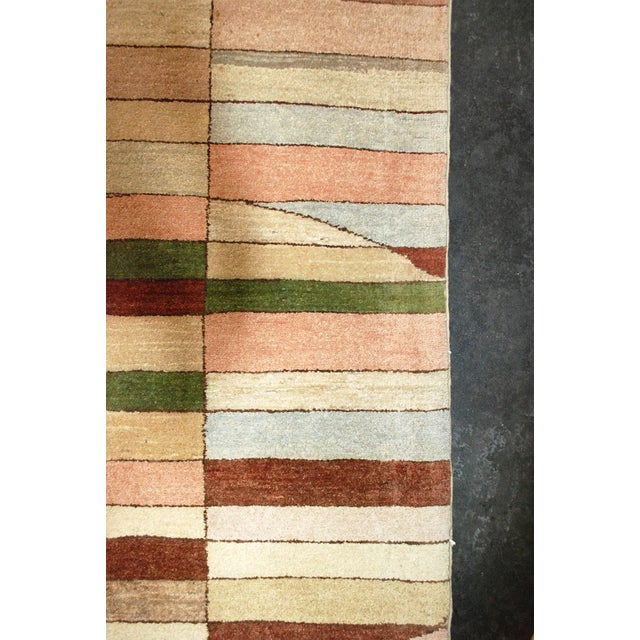 2000 - 2009 Geometric Art Deco Style Square Wool Gaba Rug For Sale - Image 5 of 6