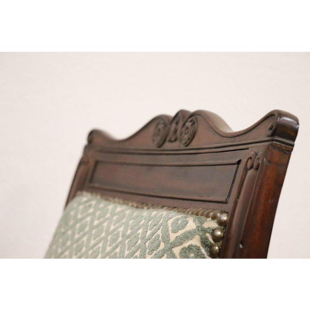 19th Century Italian Carved Mahogany Charles X Six Chairs For Sale - Image 9 of 13
