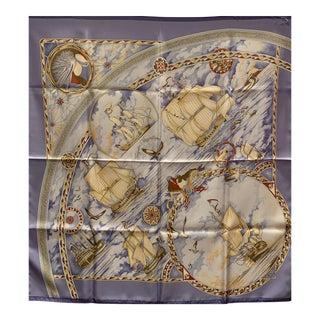 Hermes Silk Scarf, Fregates Magnifiques For Sale