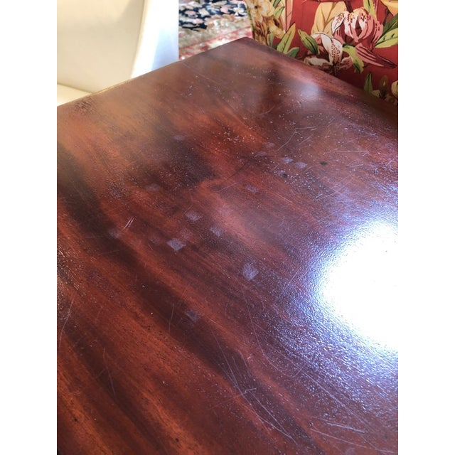 1900s British Colonial Mahogany Drop Leaf Table For Sale - Image 11 of 13
