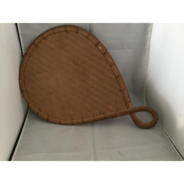 1980s Natural Bamboo Japanese Fan For Sale - Image 5 of 6