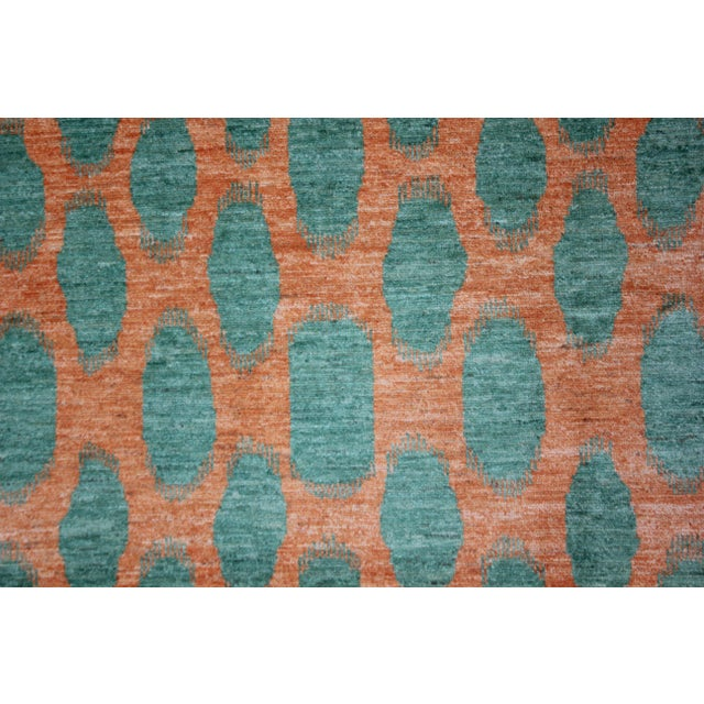 Modern Aara Rugs Hand Knotted Modern Ikat Rug- 10′1″ × 13′3″ For Sale - Image 3 of 4