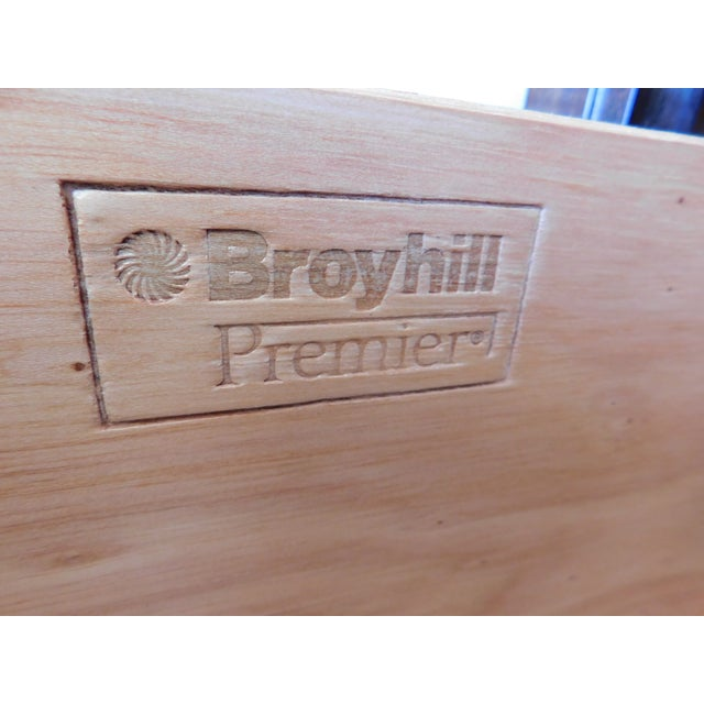 """Brown Broyhill Premier """"Ming"""" Collection Armoire / Chest For Sale - Image 8 of 13"""