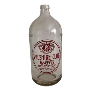 Wilshire Club Siphonated Water Seltzer Bottle For Sale