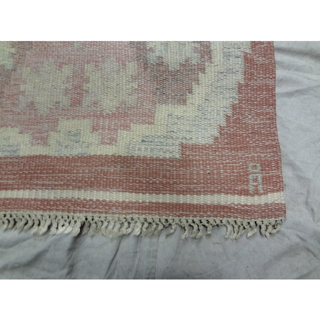 Swedish Mid-Century Flat-Weave Rug - 2′8″ × 5′7″ For Sale - Image 4 of 4