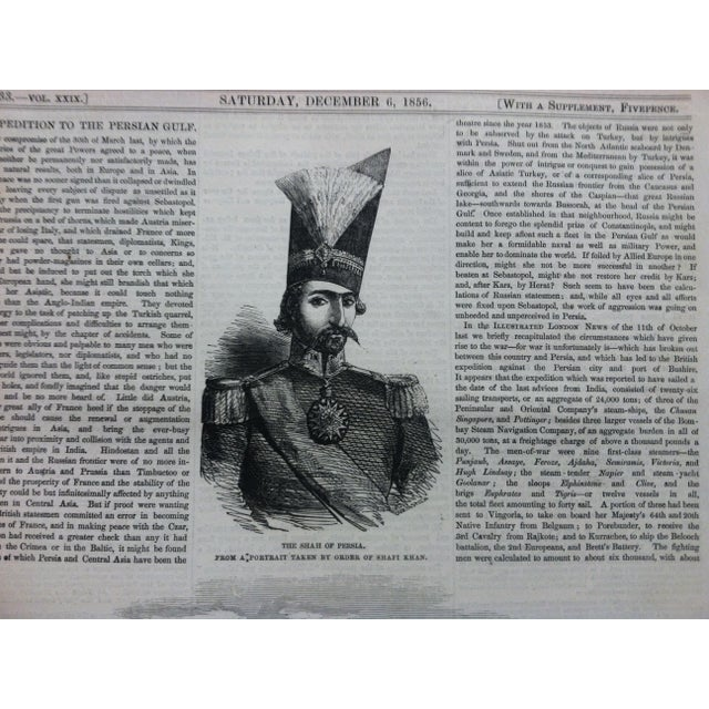 """1856 Antique Illustrated London News """"Bushire on the Persian Gulf"""" Print For Sale - Image 4 of 6"""