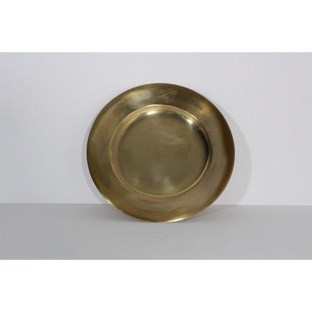 1930s 1930s Regal Dirilyte Dirigold Sweden Heavy Gold Plated Charger Plate For Sale - Image 5 of 5