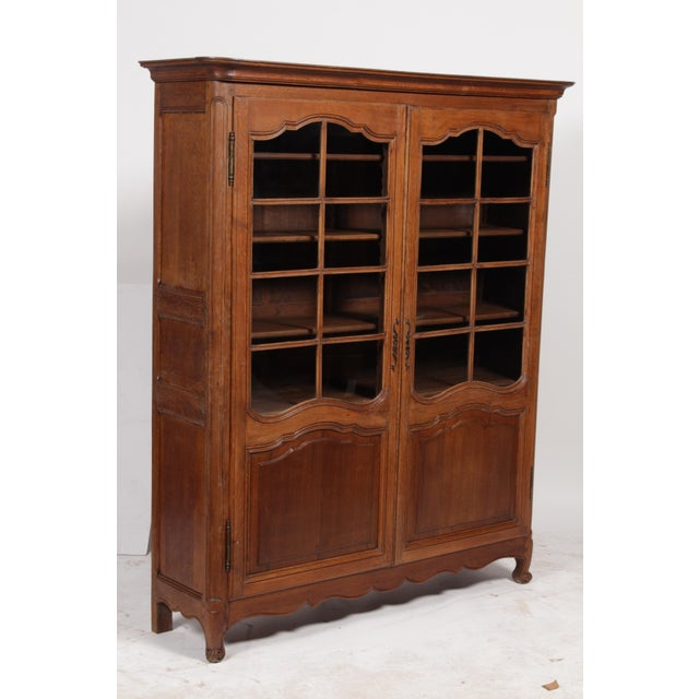 19th C. Louis XV Bookcase With Glass Doors - Image 3 of 9