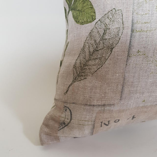 Green Botanical Bolster Pillow For Sale In Dallas - Image 6 of 11