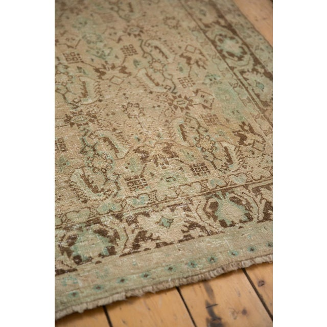 "Vintage Distressed Shiraz Carpet - 5'4"" X 8'3"" For Sale In New York - Image 6 of 12"