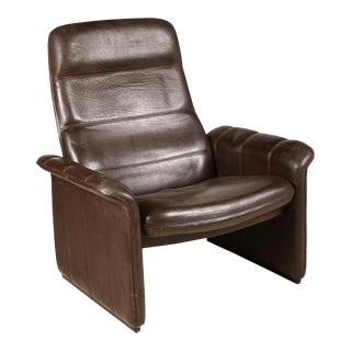 De Sede Brown Leather Recliner For Sale