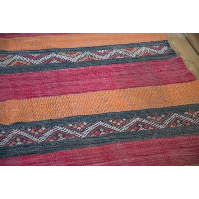 """Boho Chic Vintage Kilim Rug Runner - 4'1"""" X 10'4"""" For Sale - Image 3 of 8"""