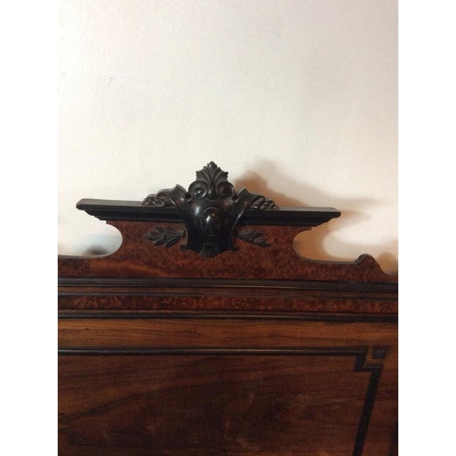 Edwardian Hardwood Full Size Vintage Bed - Image 5 of 7
