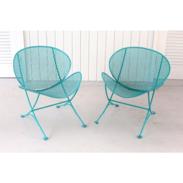 1960s 1960s Salterini Turquoise Clam Chairs - a Pair For Sale - Image 5 of 13