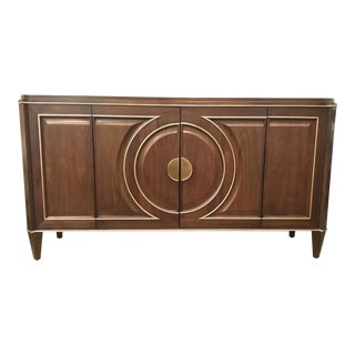 Hickory White Modern Leone Sideboard/Media Cabinet For Sale