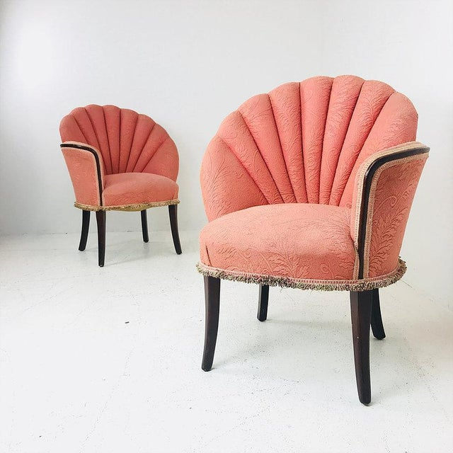 Pair of 40's Deco Opposing Channel Back Chairs For Sale In Dallas - Image 6 of 10