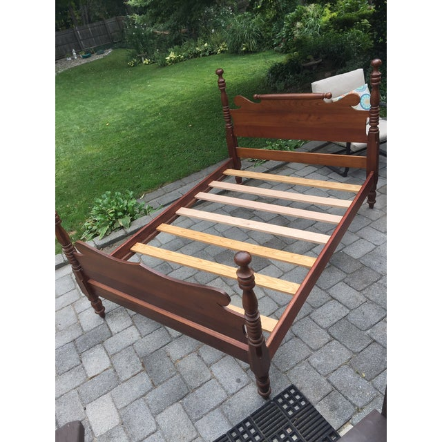 Early 20th Century 20th Century Full-Size Cherry Bedframe For Sale - Image 5 of 13