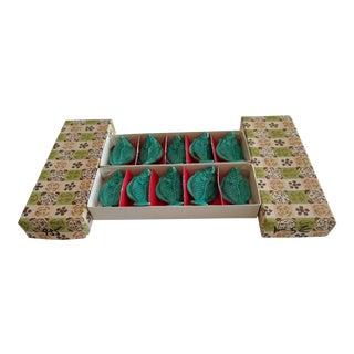 Vintage Set of Ten Japanese Ceramic Table Utensil Rests For Sale