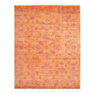 Boho Chic Hand-Knotted Rug For Sale