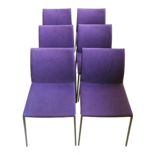 Lia Purple Dining Chairs - Set of 6 For Sale