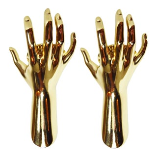 Maison Arlus Gold Hands Sconces - A Pair