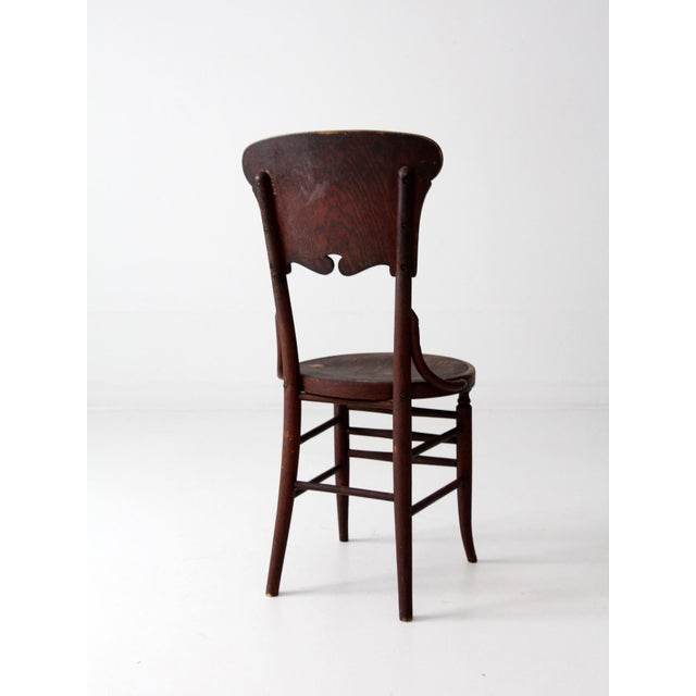 Brown Antique Round Seat Chair For Sale - Image 8 of 8