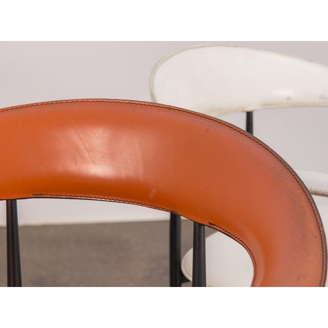 1980s P40 Armchairs by Giancarlo Vegni and Gianfranco Gualtierotti - a Pair For Sale - Image 5 of 12