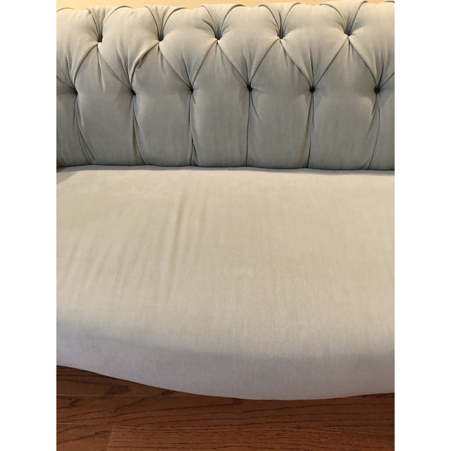 Anthropologie Blue Chesterfield Sofa For Sale In New York - Image 6 of 11