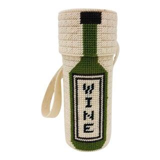 Vintage Hand Stitched Wine Holder For Sale