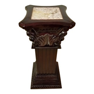 1970s Vintage Wooden Pedestal For Sale