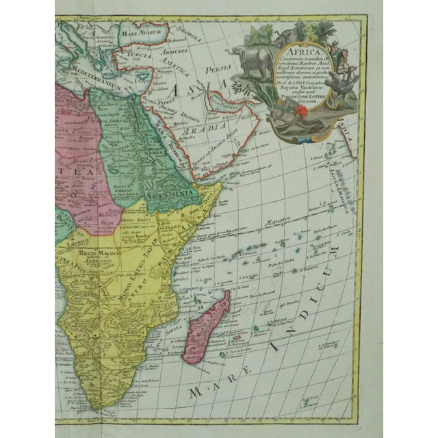 Green 1778 Africa Map by Lotter For Sale - Image 8 of 10