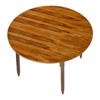 Arte Sano White Walnut Round Dining Table Made in Colombia For Sale