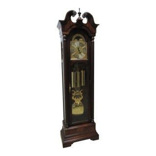 Cherry Flame Mahogany Broken Arch Grand Fathers Clock