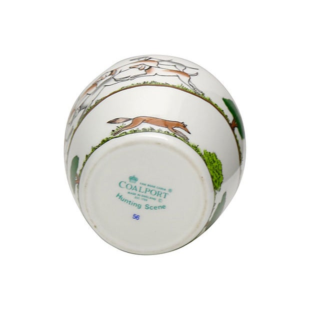 Crown Staffordshire Crown Staffordshire English Hunting Scene Vase For Sale - Image 4 of 5