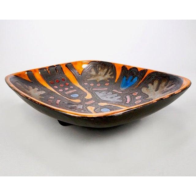 Blue Rogier Vandewegh for Perignem Footed Platter For Sale - Image 8 of 8