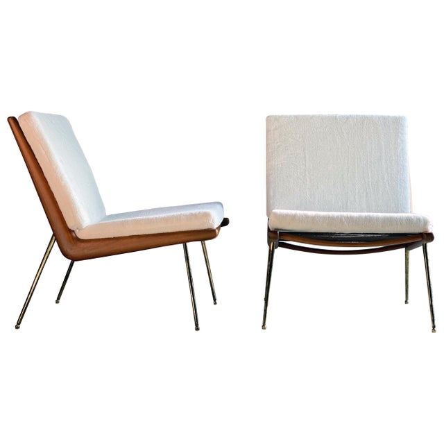 Boomerang Chairs France & Son Peter Hvidt & Orla Mølgaard Nielsen, 1950s - A Pair For Sale - Image 13 of 13