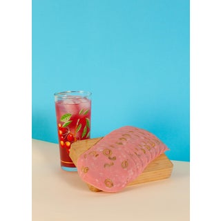 Tropical Refreshing Still Life, Modern Giclée Print Limited Edition of Three, Pink & Blue For Sale